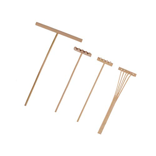 Healifty 4 Stück Mini Zen Sand Rechen Bambus Rechen Werkzeug Fee Garten Rechen Feng Shui Dekoration für Home Office Tisch