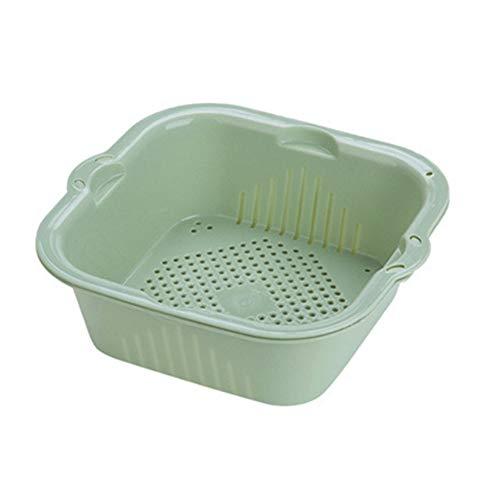Yagoal Colapasta Bacinella Pieghevole Campeggio Setaccio Riso Piccolo Colino Sink Cestello Filtro da Cucina Green,One Size