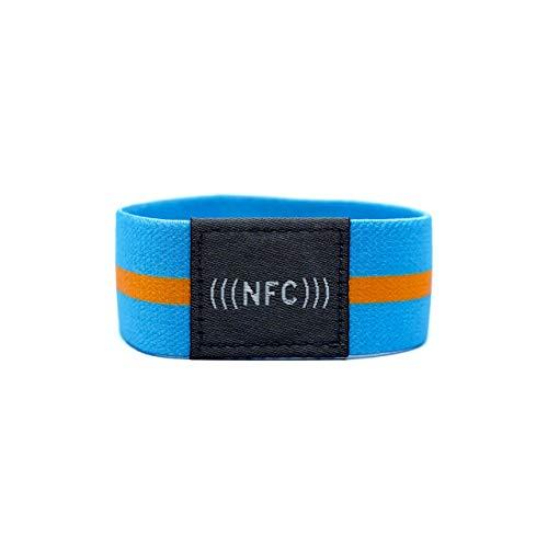 NFC NTAG216 924 Byte - Bracciale in tessuto flessibile, taglia S