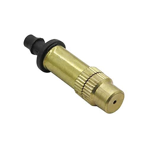 El inyector de atomización 100 piezas de cobre de riego del jardín de riego Agricultura Invernadero atomizado spray de refrigeración de riego de conexión de la manguera 4/7 Mm ( Color : Copper )