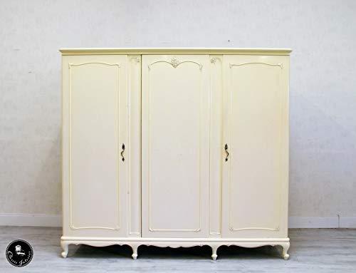 Classic Interior Kleiderschrank Chippendale Schrank Antik Wäscheschrank Dielenschrank