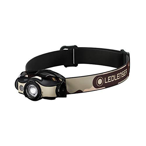 Ledlenser Jagen/Angeln/Outdoor MH4 Stirnlampe, Black/Sand, Einheitsgröße