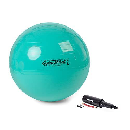 PEZZI Original Pezziball Standard 65 cm m. Pumpe Kombi Gymnastikball grün