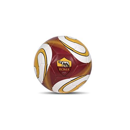Mondo Sport - Pallone da Calcio cucito A.S. Roma - size 5 - 410 g - Prodotto ufficiale - Colore: giallo/rosso/bianco - 13641