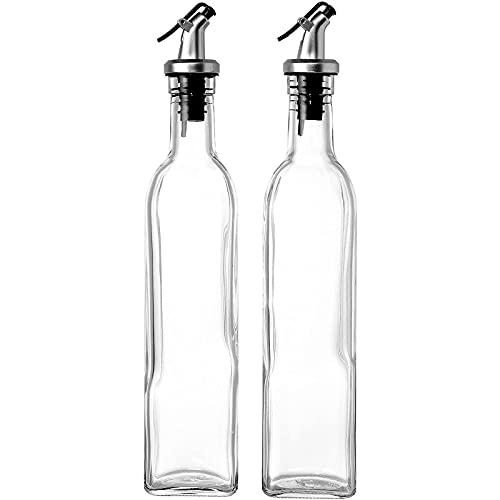 Botellas dispensadoras de aceite de oliva y vinagre Juvale, con palanca vertidora. 2 unidades, 500 ml