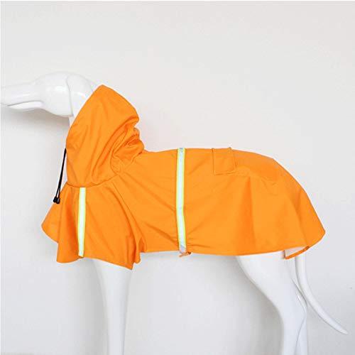 ZP-MIN Pet pequeño perro impermeable reflexión pequeño perro grande impermeable chaqueta impermeable al aire libre transpirable cachorro ropa