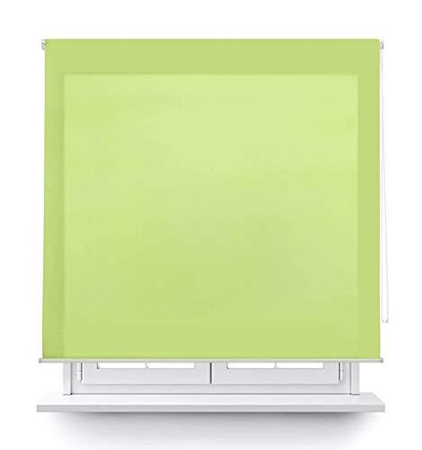 DABUTY ONLINE, S.L. Estor translúcido Liso para Ventana. Estores Enrollables para Ventanas y Puertas (Verde, 100 x 180 cm)