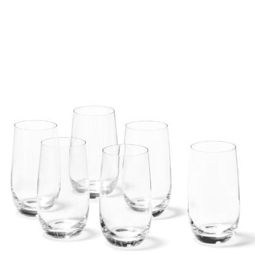 Leonardo Tivoli Becher groß, 6-er Set, 390 ml, spülmaschinenfest, Teqton-Kristallglas, 020965
