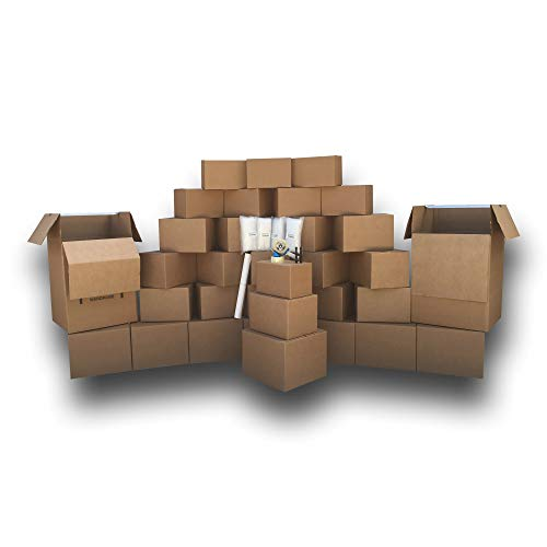 UBOXES Wardobe Kit #3- Moving Boxes and Supplies! Everything You Need to Pack a 3-4 Bedroom!