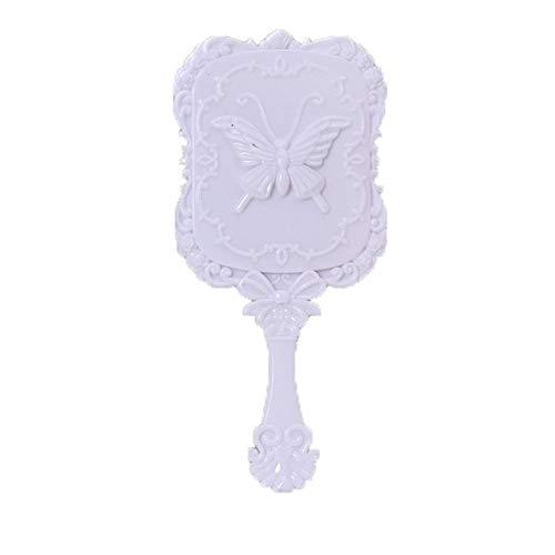 Talla de mariposa Patrón tridimensional Pequeño Espejo Alta calidad Protección del medio ambiente Plástico Sin deformación Halo Cuadrado Mango Maquillaje Regalo