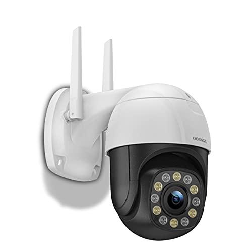 2021最新wifi強化版 PTZセキュリティカメラ屋外、屋外ワイヤレス1080P PTZ WiFi防水セキュリティIPカメラ、ワイヤレスHDホームビデオ監視ドームカメラ 内蔵双方向オーディオ、カラーナイトビジョン、モーション検出 200万画素 監視カメラ ネットワークカメラ 回転機能 ペットカメラ 動体検知 みまもりカメラ スマホ対応 リモートカメラ 遠隔操作 wifi カメラ 暗視撮影 マイク内蔵 双方向通話 ワイヤレス 屋外 家庭用355° 90° ドーム型 留守番カメラ TFカード対応
