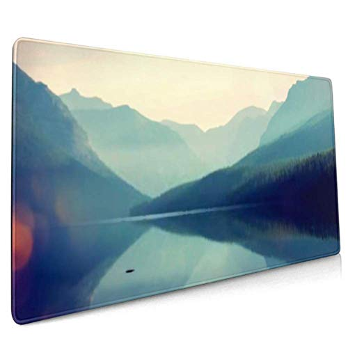 Long Mousepad (35.5x15.8in) Glacier National Park Montana Usa Instagram Desk Pad Keyboard Mat, Non-slip Base, Water-resistant, For Work & Gaming, Off