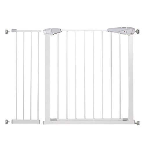 SPRINGOSⓇ Barrière de sécurité, idéale comme portail d'escalier, pour la protection et la sécurité du bébé, stable, 76-85cm