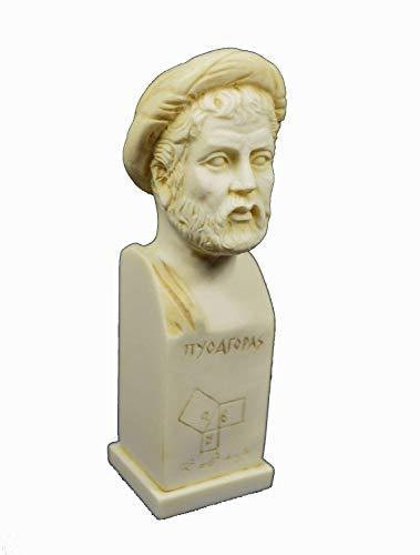 Estia Creations Pythagoras Skulptur von Samos Antike Griechische Mathematiker Philosoph Alter Statue