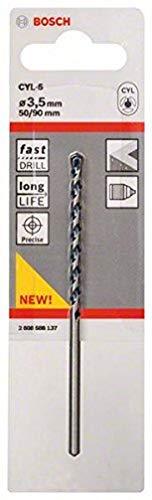 Bosch 2608588137 CYL-5 Concrete Drill Bit, 3.5mm x 50mm x 90mm, Silver