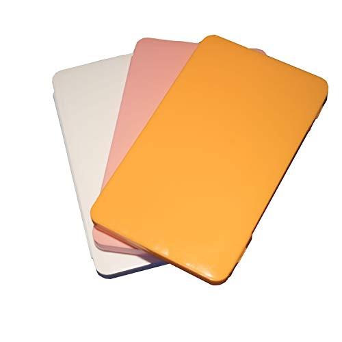 BabyLu Funda para mascarillas. Estuche para Guardar Las mascarillas contra el Polvo y la Suciedad. Paquete de 3 Unidades. (Blanco+Rosa+Naranja)