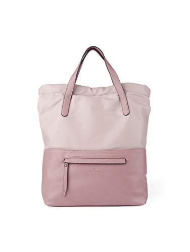 TOM TAILOR Rucksack Damen Sveja, Pink (Old Rosé), 30x35x7 cm,  TOM TAILOR Rucksackhandtasche, Damenrucksack, Handtasche