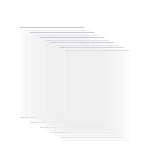 GOONSDS 10Pack PVC Clear Acrylic Plastic Sheet for Artwork Display Cabinet and Professional Projects,200mmx200mmx1mm