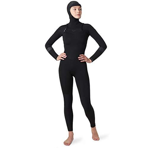 Roxy 5/4/3 Syncro Front Zip GBS Hydrolock - Traje de neopreno para mujer, color negro
