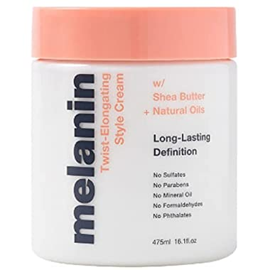 Melanin Haircare Twist Elongating Style Cream with Shea Butter and Natural Oils. 16 Oz. Long Lasting Definition. Hydrate…