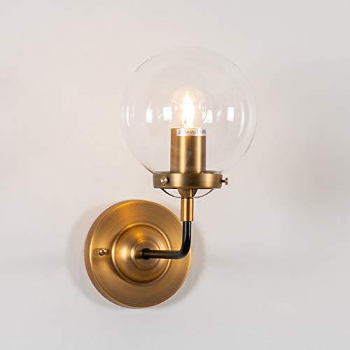 KOSILUM - Applique Murale avec boule en Verre Transparent - Zenith - Lumière Blanc Chaud Eclairage Salon Chambre Cuisine Couloir - 1 x 60W - - E27 - IP20