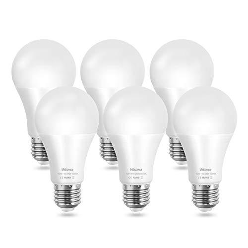 WEDNA Bombillas LED A60 E27, 12W equivalentes a 100W, Blanco Frío 6000K, 1100 Lúmenes, No regulable, 6 Unidades