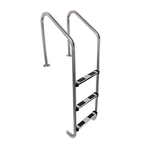ARKSEN In-ground 3 Step Swimming Pool Ladder w/Non-Skid Step...