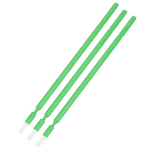 Dental Micro Applicator Brush, Non-Absorbent Fibers Dental Micro Brush Micro with Bendable Portion Micro Applicators Brushes for Makeup Beauty Dental Brush(Green,)