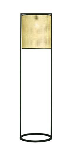 Fischer & Honsel Stehleuchte Tyler 1x E27 max. 60,0 Watt, schwarz, 40258, 40 x 40 x 150 cm (LxBxH)