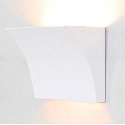 PhilMat Conception simple luminaire moderne lampe de mur de poche décorative blanche