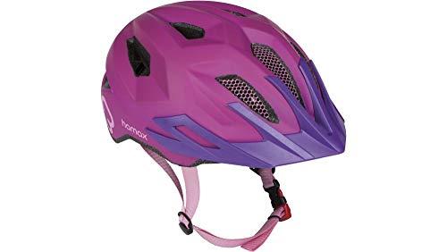 RennMaxe : Hamax Flow - pink/lila - 52-57 cm - inkl Sicherheitsband - Fahrradhelm Skaterhelm MTB BMX Kinder Jugendliche