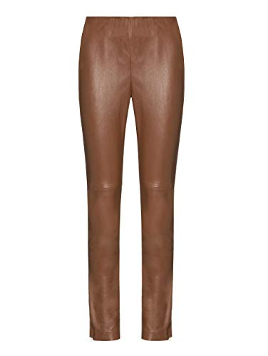 Alba Moda Lederhose aus hochwertigem Lammnappaleder Cognac