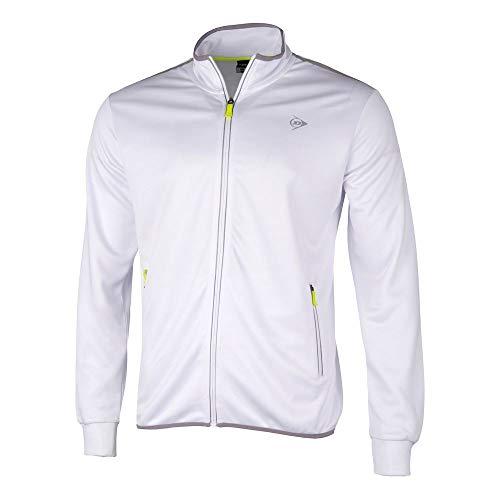 Dunlop Jungen, Knitted Trainingsjacke Weiß, 140 Jacken