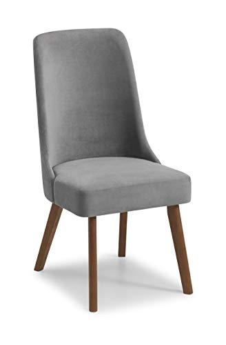 Julian Bowen Huxley Set di 2 sedie da Pranzo, Ciniglia, Grigio, Taglia unica