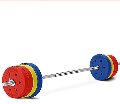 YQCH Conjunto de Barra de protección Ambiental de Color, Equipo de Fitness para el hogar, Placa de Barra, Levantamiento de Pesas, Barra Recta en Cuclillas, Material ABS (Color : 60kg)
