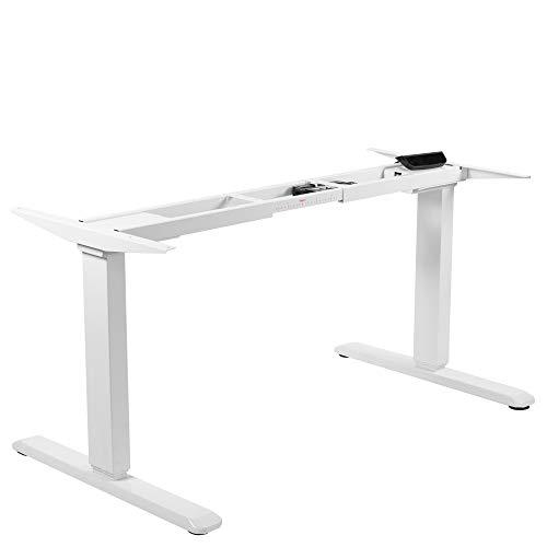 VIVO White Electric Dual Motor Stand Up Desk Frame with Cable Management Rack, Ergonomic Height Adjustable Standing DIY Workstation, DESK-V103EW
