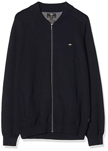 FYNCH-HATTON Herren Cardigan-College Strickjacke, Blau (Navy 690), Medium (Herstellergröße: M)