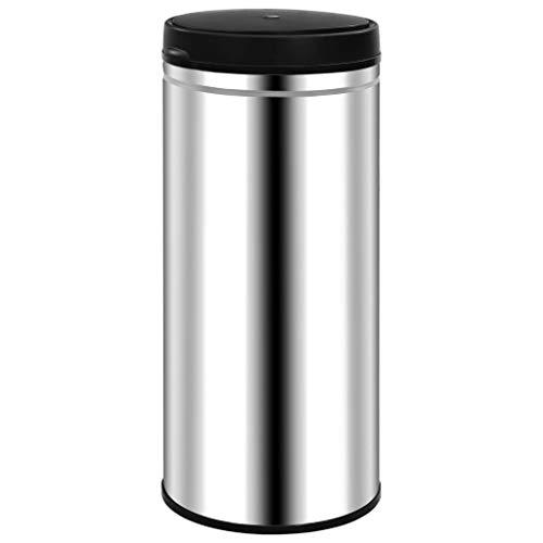vidaXL Sensor Mülleimer Automatisch Abfalleimer Papierkorb Müllbehälter Abfallsammler Mülltrenner Abfallbehälter Tretmülleimer 80L Edelstahl