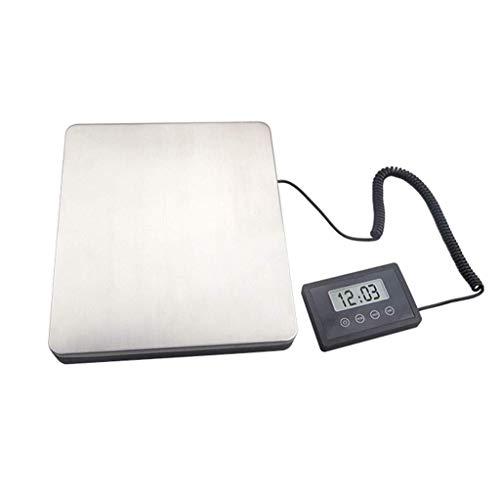 DYB Báscula electrónica de Alta Resistencia de 180 kg / 100 g, báscula de Plataforma Digital, báscula Comercial para Paquetes de Animales, 30 x 25,5 x 3,6 cm