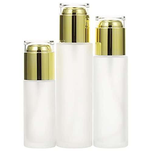 Amosfun Milchglas-Spender für Lotion, Flüssigkeit, ätherisches Öl, 50 ml, 80 ml, 100 ml, 3 Stück