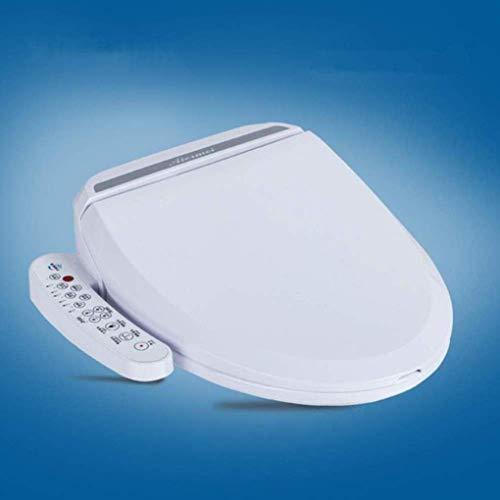N/Z Inicio Equipamiento Asientos de Inodoro Luz de Noche con calefacción Asiento Redondo WC Cubierta automática Control Remoto Blanco