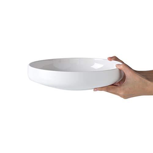 YYF Grand bol à soupe en céramique - poisson/fruit cuit à la vapeur / 26,2 cm de diamètre (Color : Blanc)