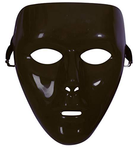 KarnevalsTeufel Maske Uni Phantom Einheitsgröße DIY für Theater Halloween Tanzauftritte u.v.m. Anonymus Theatermaske Maskerade für Erwachsene (Schwarz)