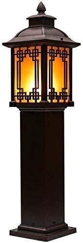 NZDY Luz de Soporte Luz de Bolardo de Estigma de Estilo Clásico Poste de Luz Moderno Luces de Aluminio Fundido a Presión Vista Del Patio Del Césped Lámpara de Pie Al Aire Libre Poste Exterior Del Jar