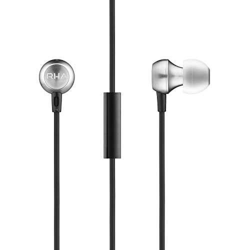 RHA MA390 Universal Earbuds: Aluminium in-Ear Headphones with Mic & Remote for Apple & Android, 3...
