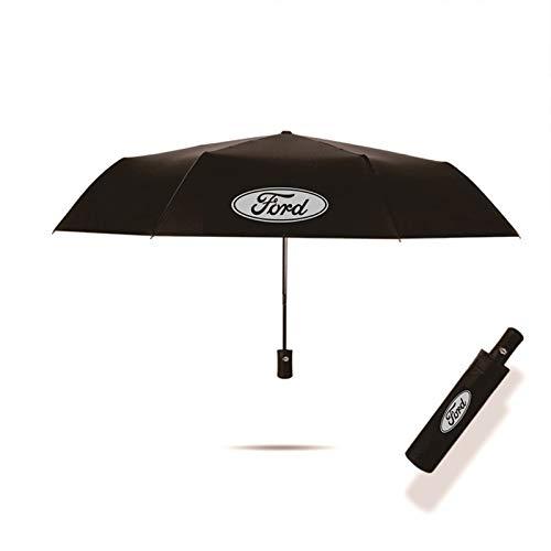 YEEXCD Auto Styling Dreifache Doppelschicht Regenschirm Winddicht Automatische Sonnenstrand Regenschirm für Ford