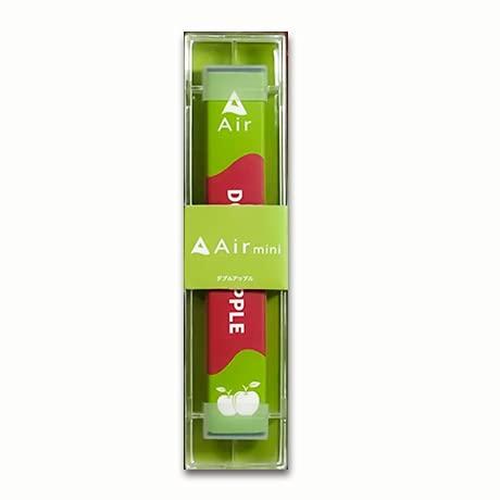 持ち運びシーシャ・電子タバコ 【Air mini ダブルアップル味】 1本 ニコチンなし 300回使用可能 使い捨て ベイプ Vape