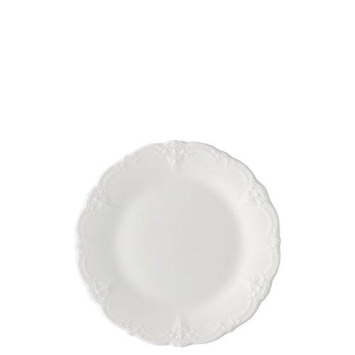 Hutschenreuther Baronesse Frühstücksteller mit Fahne, Estelle Weiß, Porzellan, 20 cm, 10020
