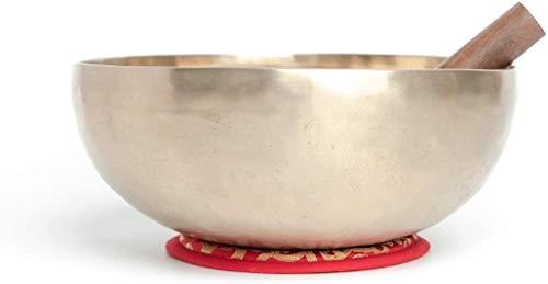 Varmohey Cuenco de canto D-Chakra Master Healing de 11 pulgadas, cuenco de meditación, cuencos tibetanos, cojín de cuenco de canto gratis, delantero y palo de tambor