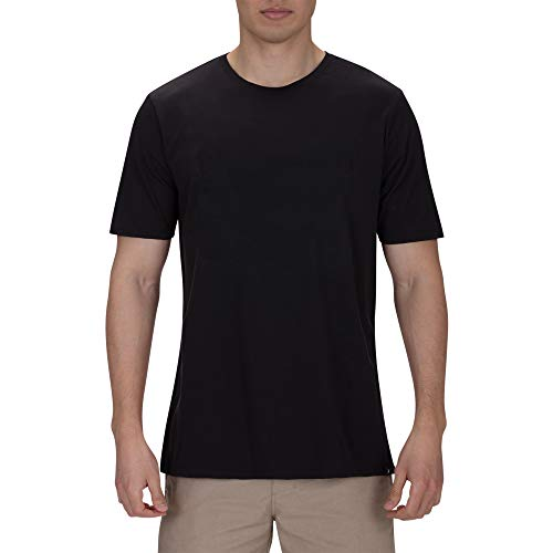 Hurley Men's Premium Cotton Staple Short Sleeve Tee Shirt, Black, S